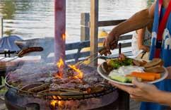 BBQ Essen nach der Kanutour