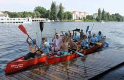 Mit dem Kanu beim Jungesellenabschied